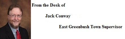 From the Desk of Jack Conway - East Greenbush Town Supervisor